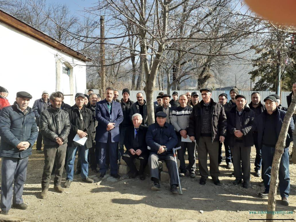 Yusif Osmanlı 61 kənddə görüş keçirib.