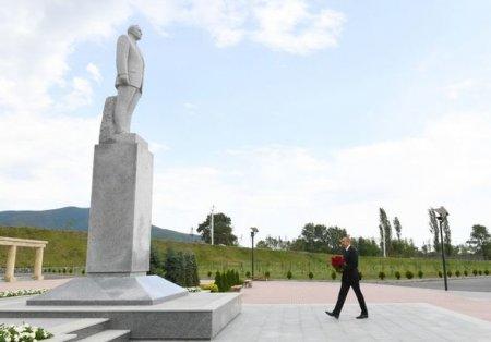 İlham Əliyev Şəkidə - FOTO